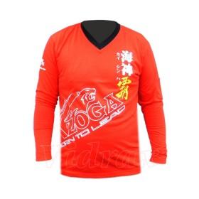 Червена тениска с дълъг ръкав XL - Xzoga