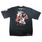 Черна тениска с къс ръкав - Xzoga