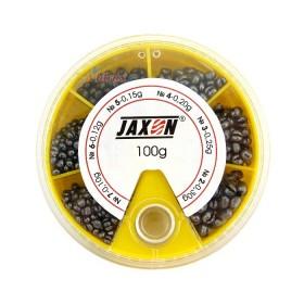Кутия олово голяма 100 гр (0.10-0.30 гр) Жълта - Jaxon