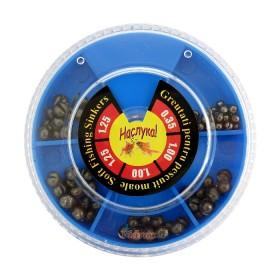 Кутия олово Наслука голяма 80 гр (0.35-1.25 гр) Синя - Видракс