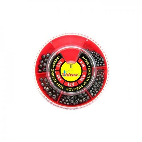 Кутия олово Наслука 2 голяма 100 гр (0.15-1.25 гр) Червена - Видракс