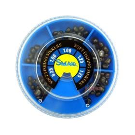 Кутия олово SuniMax 2 голяма (1.25-0.35 гр) 100 гр - синя