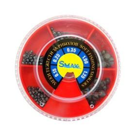 Кутия олово SuniMax 3 голяма (1.25-0.15 гр) 100 гр - червена