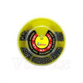 Кутия олово Наслука 3 голяма 100 гр (0.10-0.35 гр)  Жълта - Видракс