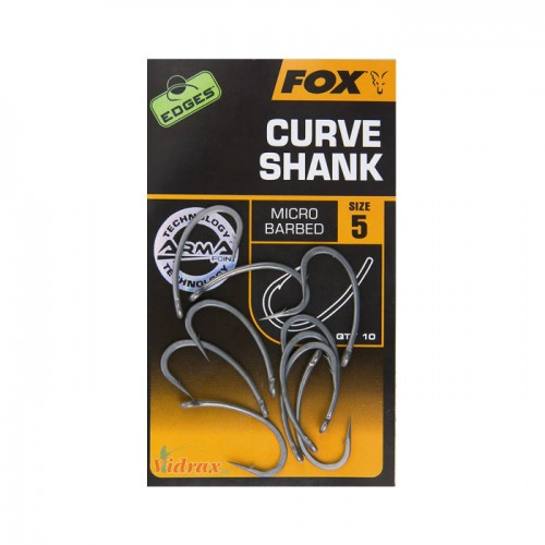 Кука Edges Arma Point Curve Shank CHK19 - Fox