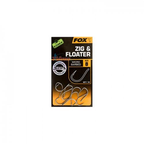 Куки Edges Arma Point Zig & Floater CHK21 - Fox