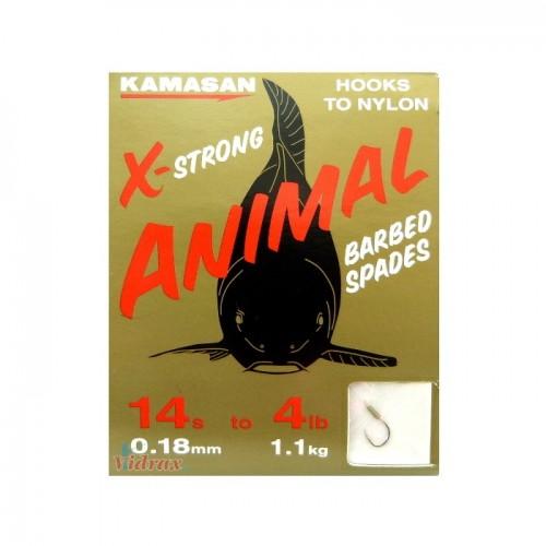 Вързани куки Animal №14 - 0.18 мм - Kamasan