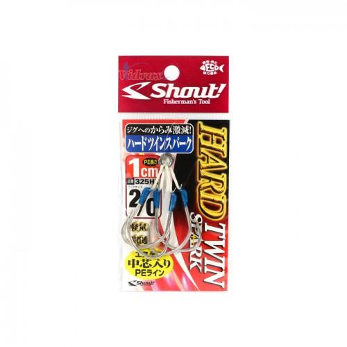 Куки Hard Twin Spark Hook 1 см - Shout!