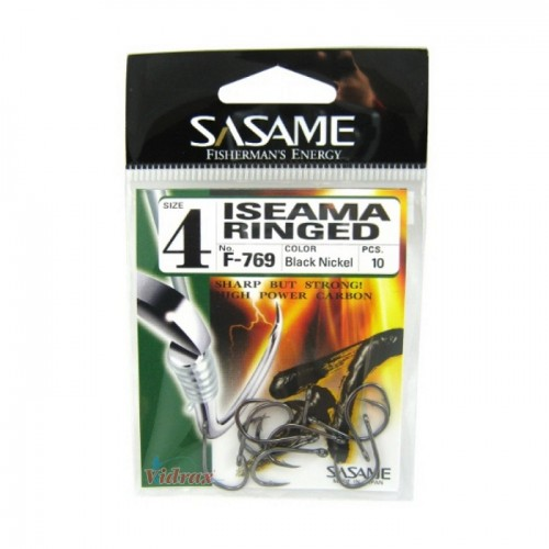 Куки Iseama Ringed-F-769 Black Nickel - Sasame