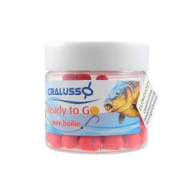 Tопчета Ready to go mini boilies Balanced Strawberry / Ягода 7 х 9 мм - Cralusso
