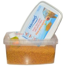 Пелети с течна добавка Feeder micro pellet with liquid Fluo Pineapple 400 г - Cralusso