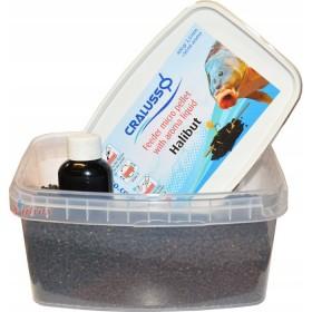 Пелети с течна добавка Feeder micro pellet with liquid Halibut 400 г - Cralusso