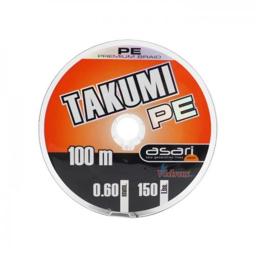 Плетено влакно Takumi Pe 100 м - 0.50 мм - Asari