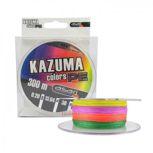 4 Нишково влакно Kazuma Colors PE 300 м - 0.18 мм - Asari