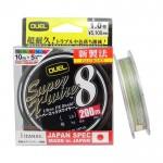8 нишково плетено влакно Super X-Wire x8 200 м PE 1.5 - 0.21 мм - Duel