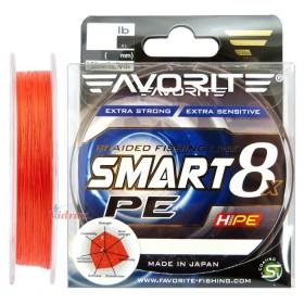 Влакно Smart PE 8x #0.6 150 м Red Orange - Favorite