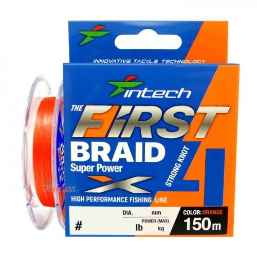 4 Нишково влакно First braid PE X4 #1.2 0.185 мм 150 м - Intech