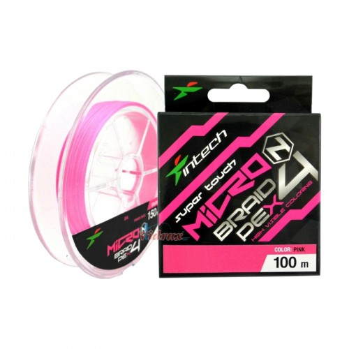 Влакно Micron Braid PE X4 #0.4 - 100 м - Intech
