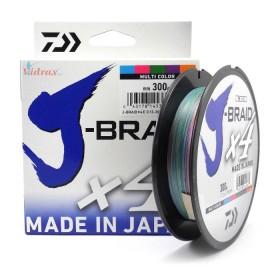 Плетено влакно J-Braid x4 300 м - 0.13 мм - Daiwa