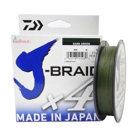 Плетено влакно J-Braid x4 Dark Green 135 м - 0.07 мм - Daiwa