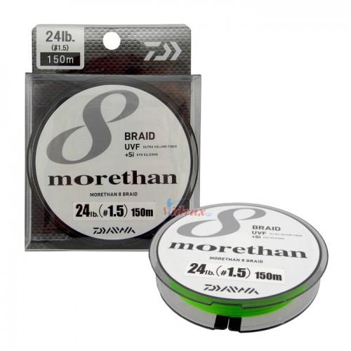 Плетено влакно UVF Morethan x 8 Braid + Si #0.8 - 150 м - Daiwa