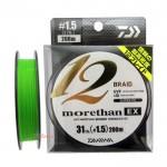Плетено влакно UVF Morethan x 12 Braid + Si #1.5 - 200 м - Daiwa