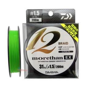 Плетено влакно UVF Morethan x 12 Braid + Si #1.2 - 200 м - Daiwa