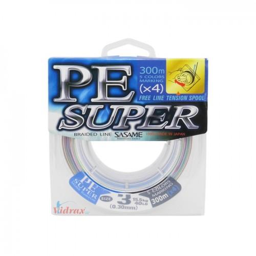 Плетено влакно PE Super 300 м - 0.30 мм - Sasame