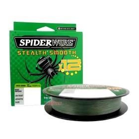 12 Нишково влакно Stealth Smooth Braid 150 м - 0.06 мм Зелено - SpiderWire