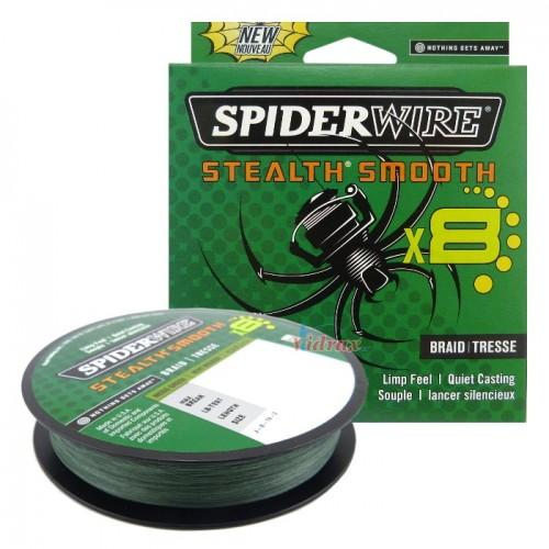 8 Нишково влакно Stealth Smooth Braid 150 м - 0.06 мм Зелено 1515221 - SpiderWire