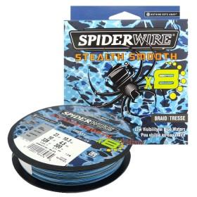 8 Нишково влакно Stealth Smooth Braid 300 м - 0.12 мм Blue Camo 1515727 - SpiderWire