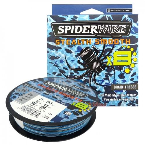 8 Нишково влакно Stealth Smooth Braid 300 м - 0.09 мм Blue Camo 1515726 - SpiderWire