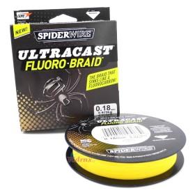 Влакно Ultracast Fluoro Braid Hi-Vis Yellow 0.18 мм - 110 м - SpiderWire