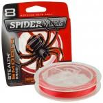 8 Нишково влакно Stealth Smooth Braid 150 м - 0.06 мм Червено - SpiderWire