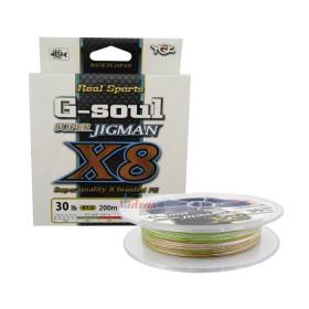 8 нишково плетено влакно G-Soul Jigman X8 200 м - 0.16 мм - YGK
